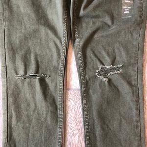 Levi's Jeans - Levi's 535 Green Super Skinny Distressed Jeans